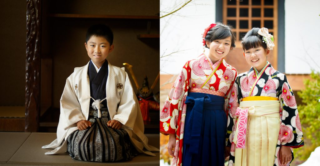卒業ハカマ・羽織袴の画像