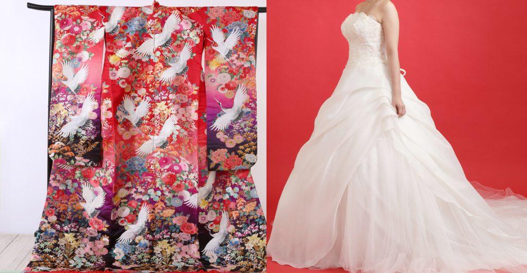 婚礼和装打掛・ウェディングドレスの画像